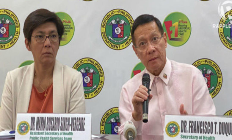 Data cleanup, backlogged cases cause delay in DOH's coronavirus updates