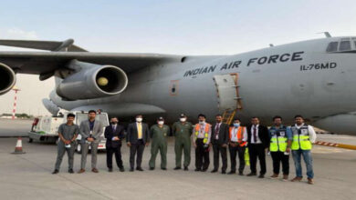 Indian Airforce Aircraft Ferried ISO Tanks To Kuwait To Continue The Medical Supply