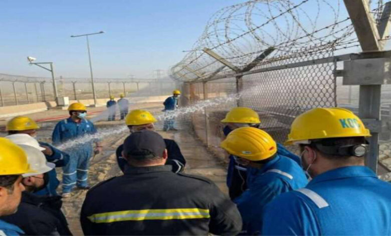 Two Oil Workers Slightly Injured In A Fire At Burgan Oil Field