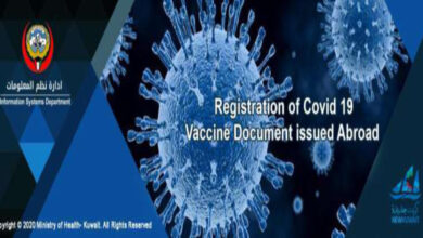 REGISTRATION OF VACCINATION DOCUMENT ISSUED ABROAD FOR CITIZENS OR RESIDENTS OF KUWAIT