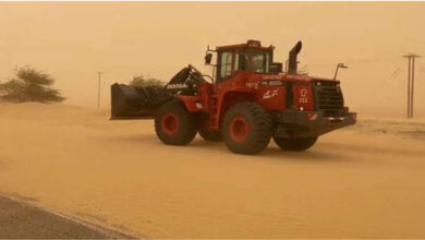 The Fire Fighting Withdraws 35 Cars That Were Stuck In The Sands Of Salma, Al-Wafra And Al-Artal